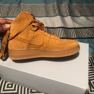 Nike Shoes - Wheat air forces